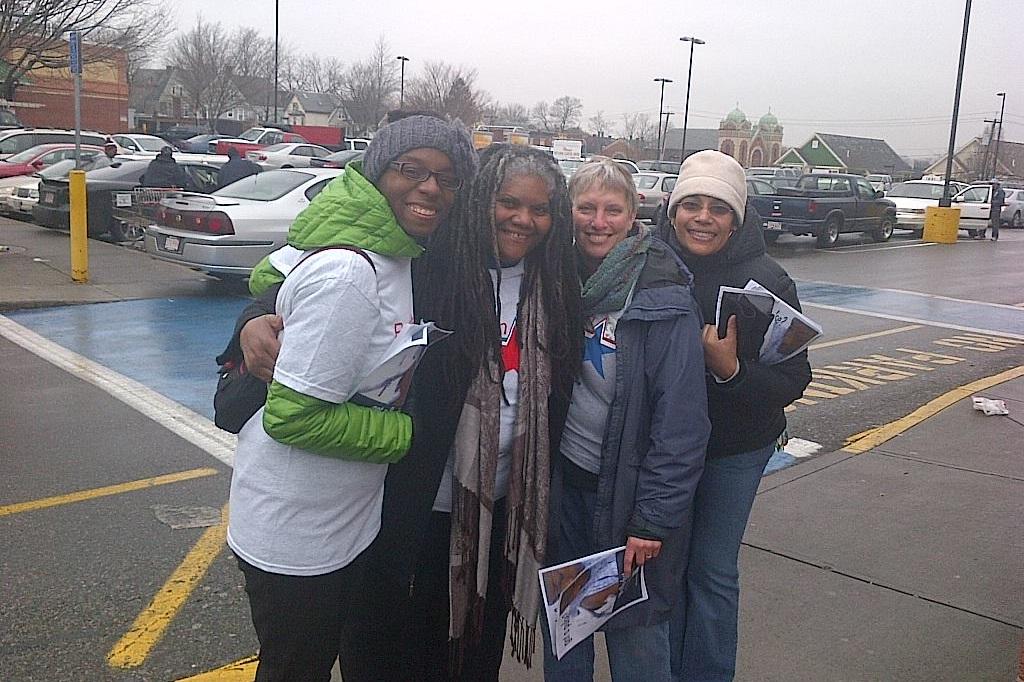 MRC volunteers during flu outreach