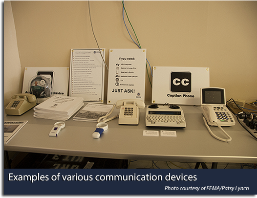 Examples of various communication devices