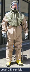 Photo of Level C PPE Ensemble